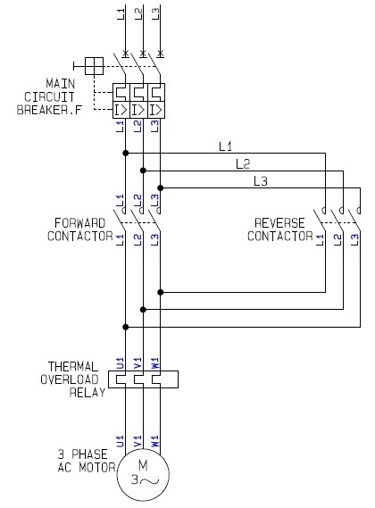 3 phase motor wiring diagram star delta mk4 jetta ac a how to guide for the power circuit of forward reverse electric controller ...