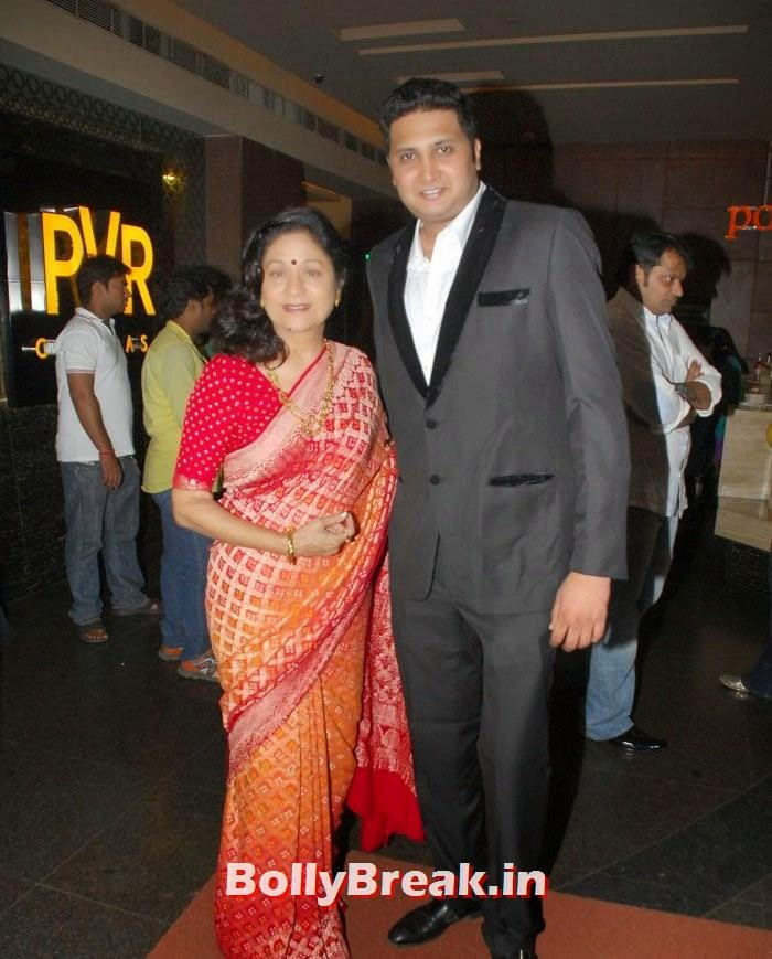 Aruna Irani, Viral Motani, 'Bol Baby Bol' Marathi Movie Grand Premiere Photo Gallery