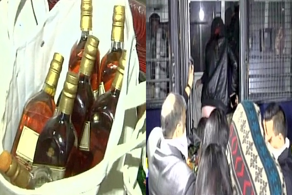 hindi-news-gujarat-police-detain-200-people-illegal-liquor-in-wedding
