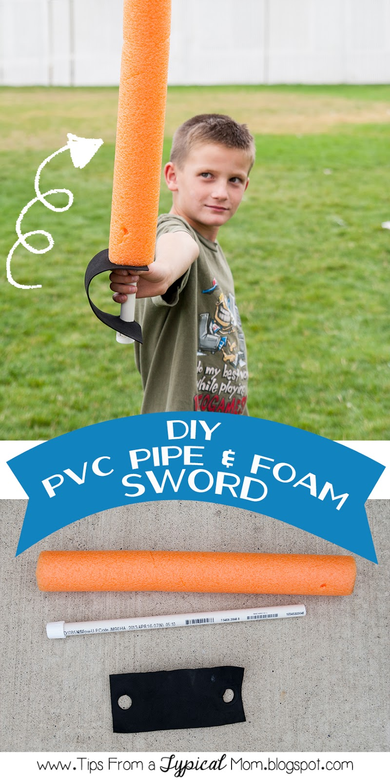DIY} PVC Pipe & Foam Sword - Tips from a Typical Mom