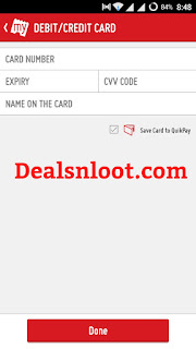 Bookmyshow debit credit option