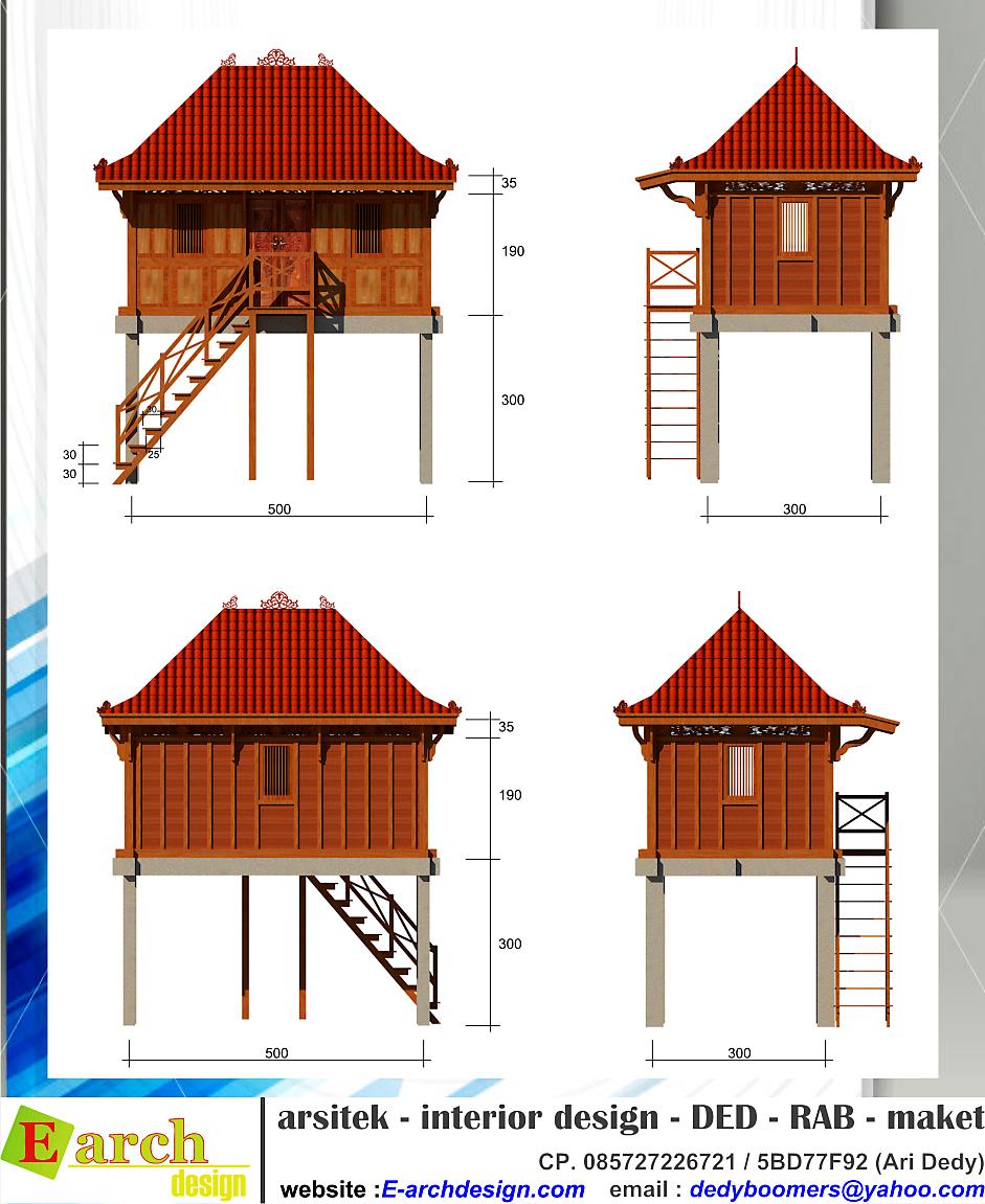 Rumah Panggung Di Jambi Desain