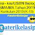 Kisi - kisi USBN Biologi SMA/MA Tahun 2019 Kurikulum 2013 (K-13)