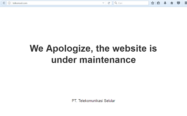 website masih maintenance