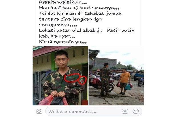 Pakai Seragam Loreng Mirip TNI, Pria Asal RRC ini Diamankan Polisi dan TNI