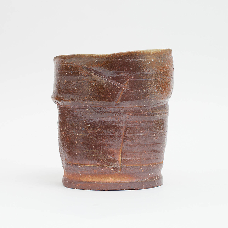 Erik Haugsby Pottery | Woodfired ceramic vase, handmade pottery, anagama fired pottery, flower vase or for decoration