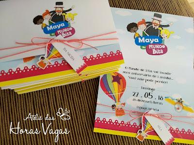 convite de aniversário infantil personalizado 1 aninho o Mundo de Bita festa menina