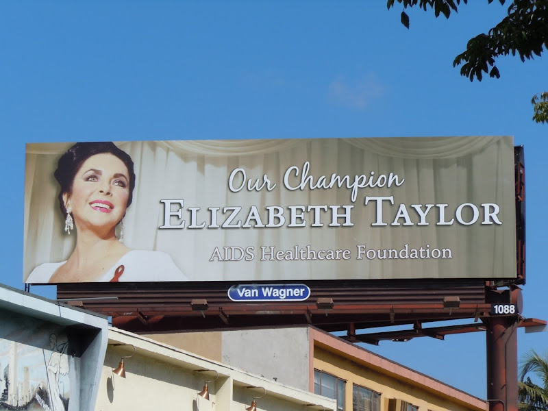 Liz Taylor AIDS tribute billboard