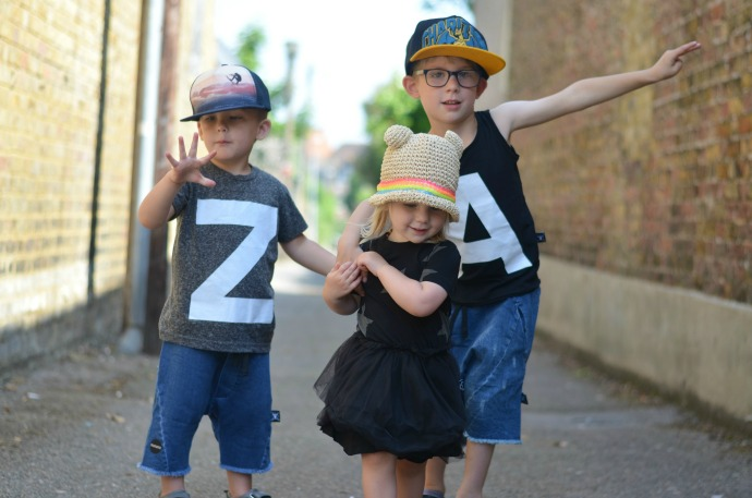 Nununu summer, black clothing for kids, punk rock princess, themummyadventure.com