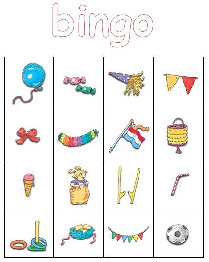 Super Kleuterjuf in een kleuterklas: Plaatjes bingo | thema FEEST @VH83