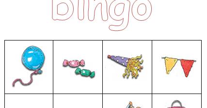 Genoeg Kleuterjuf in een kleuterklas: Plaatjes bingo | thema FEEST #OU33