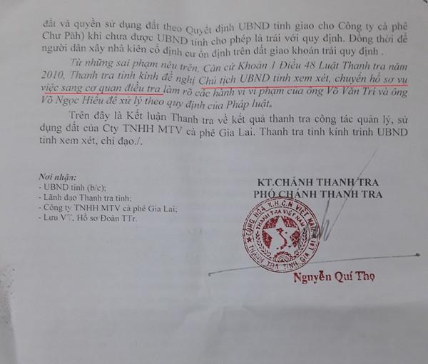 Vụ Cty Cà phê Gia Lai tẩu tán 200ha đất trước cổ phần hóa: Sai phạm đã rõ, sao không chuyển Cơ quan điều tra?
