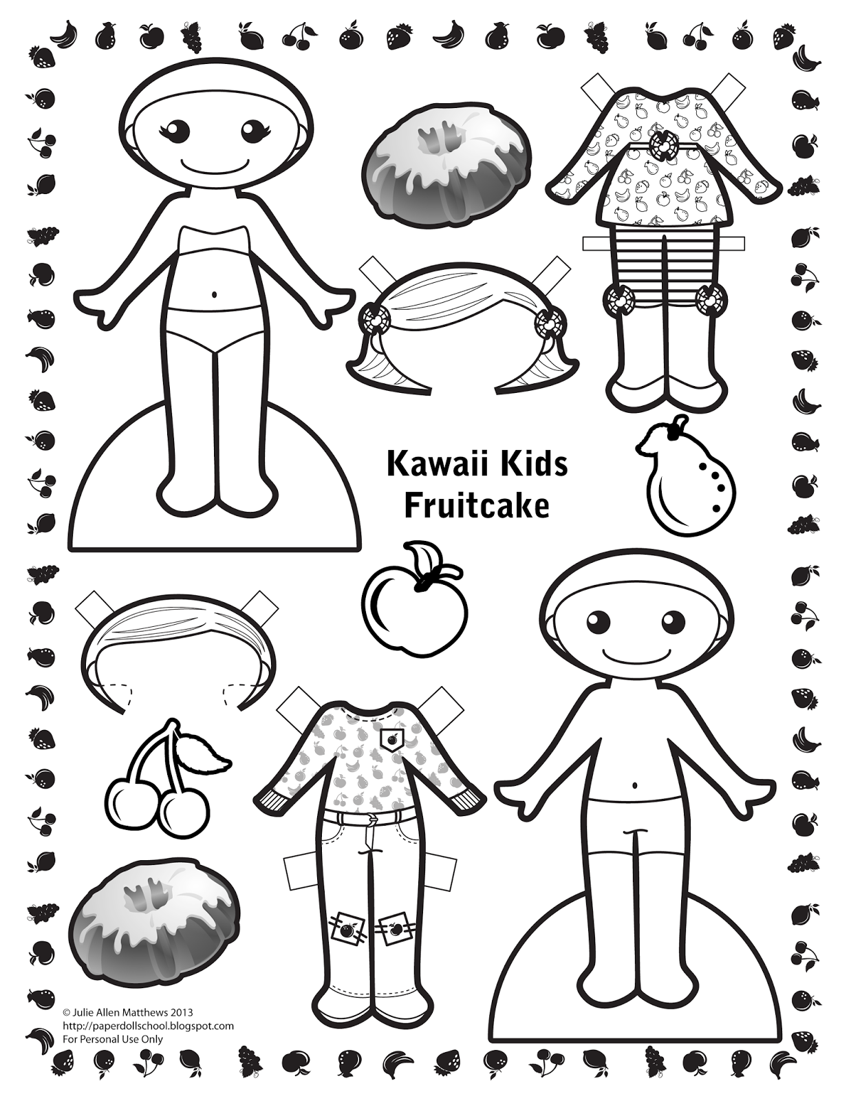 Paper Doll School Kawaii Kids 27