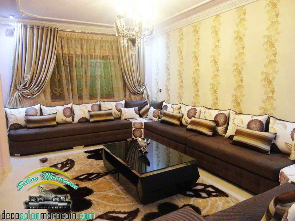 d coration salon marocain moderne 2015. Black Bedroom Furniture Sets. Home Design Ideas