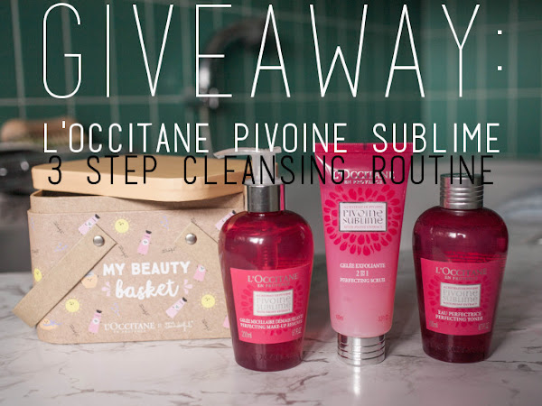 Giveaway: L'Occitane Pivoine Sublime 3 step cleansing routine
