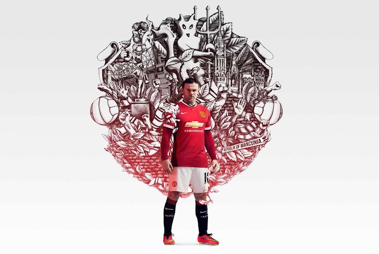 Camiseta Manchester United 2014%15 Rooney