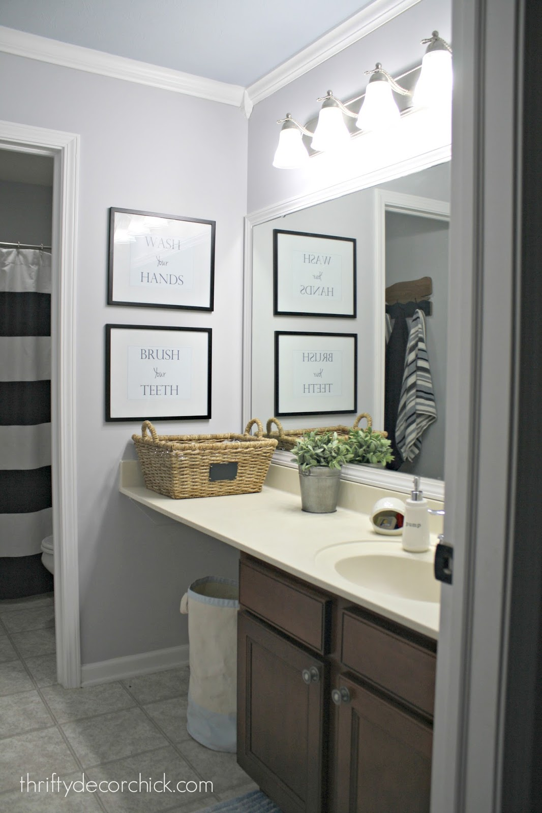 A simple bathroom makeover paint is the bomb from for Bathroom updates