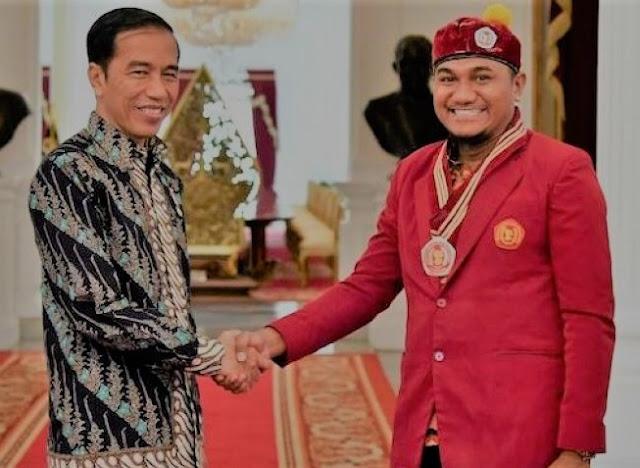 Ketua Umum PP PMKRI saat beraudiensi dengan Presiden RI