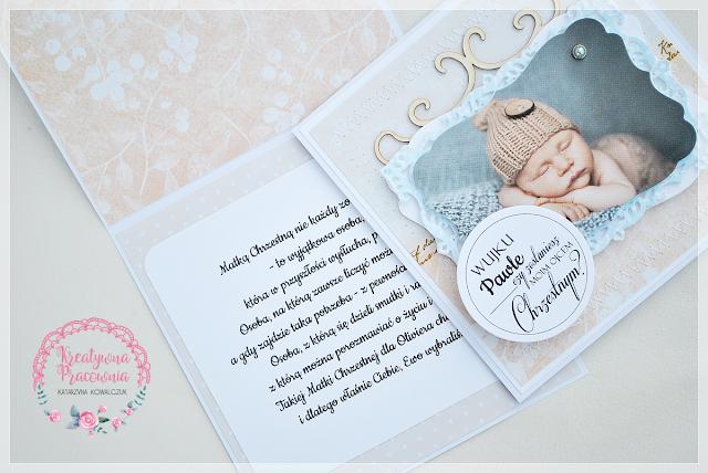 Kartki - zapytania o zostanie Rodzicem Chrzestnym scrapbooking