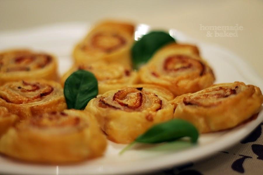 Homemade And Baked Food Blog Schnelle Schinken Käse Schnecken