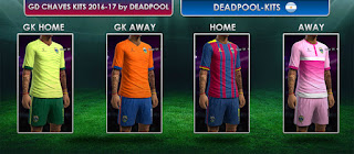 GD Chaves Kits 2016-2017, Pes 2013