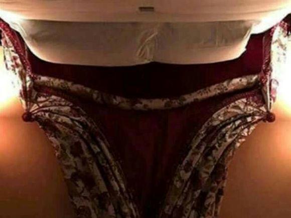 A ilusão ótica mostra o que parece ser uma mulher sentada com as pernas abertas e terá sido criada por acaso