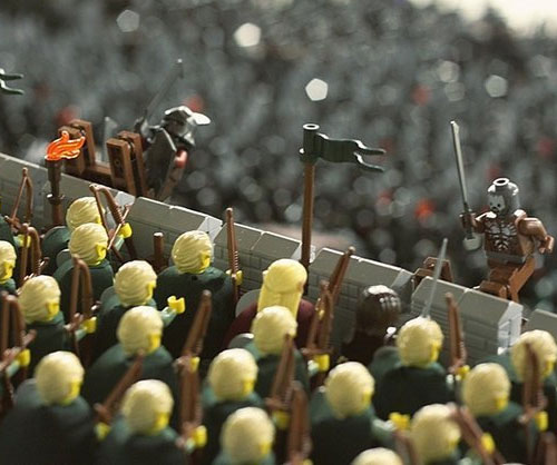 Recreate one of the most epic scenes in the entire Lord of the Rings trilogy using the Battle of Helm's Deep LEGO set. This 1,368 piece set comes with everything necessary to construct the iconic fortress and pit the forces of good and evil against each other.
