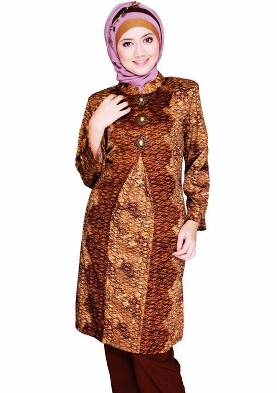 Fashion Tren Model Baju Batik Kantor Wanita Berjilbab