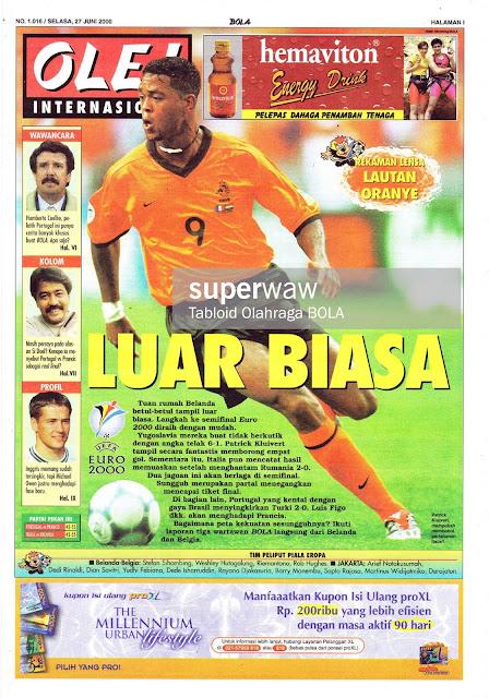 PATRICK KLUIVERT HOLLAND NETHERLAND EURO 2000