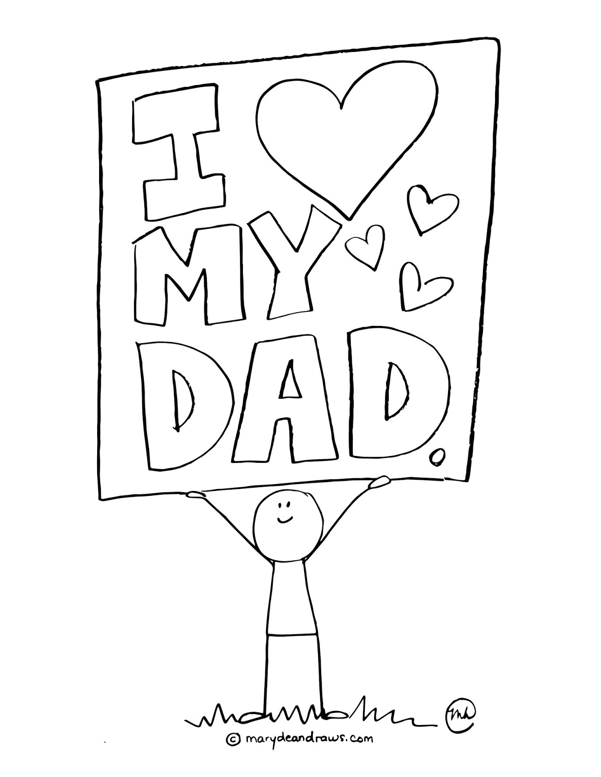 father day coloring page printable - a father 39 s day printable coloring page marydean draws