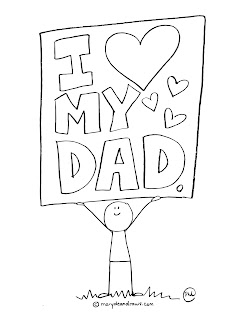father's day printable coloring page