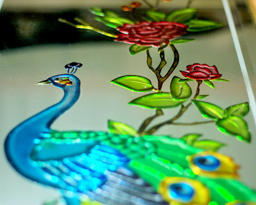 Tinuku Tito Sugiarto studio presents glass painting artworks for architectural design lit luxury and give revelation