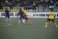 Players in Action MFM FC vs Wikki Tourists