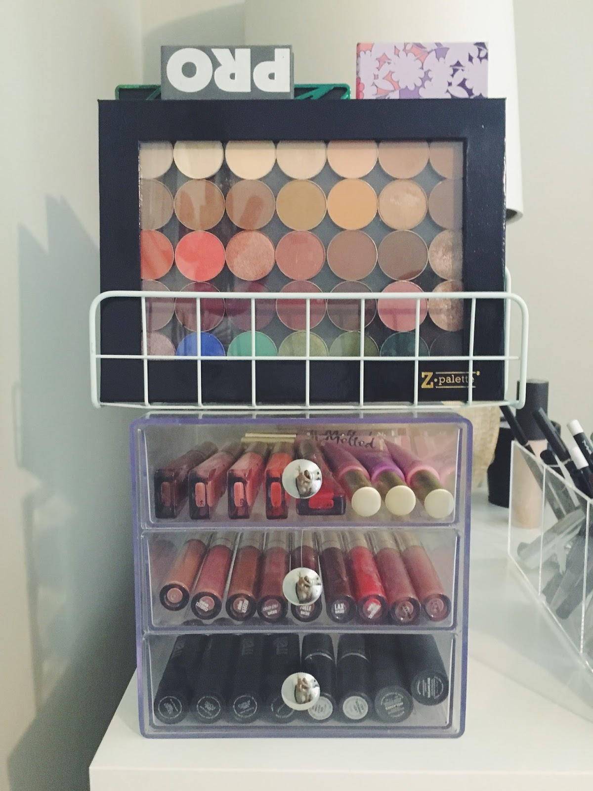 Mal S Vanity Tour And Makeup Collection Love Mala