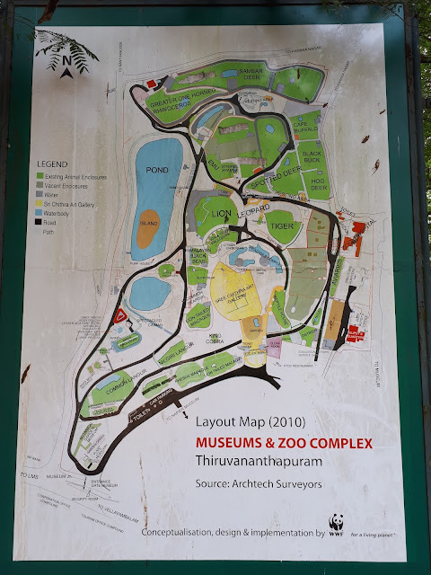 Plan du zoo de Thiruvananthapuram