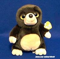 mole plush stuffed animal toy
