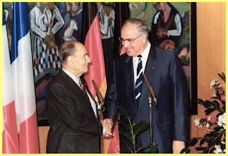 Mitterrand y Kohl en 1987