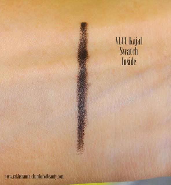 VLCC, VLCC Kajal Review, Herbal kajal, VLCC Herbal Kajal, VLCC Kajal Review and Swatches and Price in India, eye makeup, kohl, natural kajal, review, VLCC kajal in india, price in India, effect of Vlcc kajal, Indian Beauty Blogger, Indian Makeup blog, Chamber Of Beauty