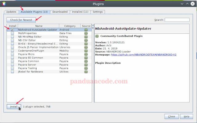 plugin NbAndroid-AutoUpdate