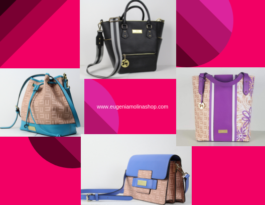 annual sale for handbags designed by venezuelan fashion designer Eugenia Molina. Leather bags.