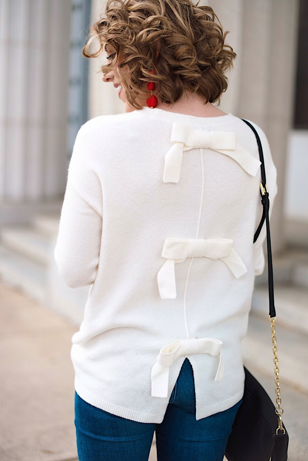 Bow Back Sweater - Click through for more on Something Delightful Blog