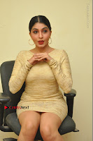 Actress Pooja Roshan Stills in Golden Short Dress at Box Movie Audio Launch  0054.JPG