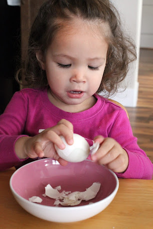 NAMC Montessori Infant Toddler furniture peeling an egg