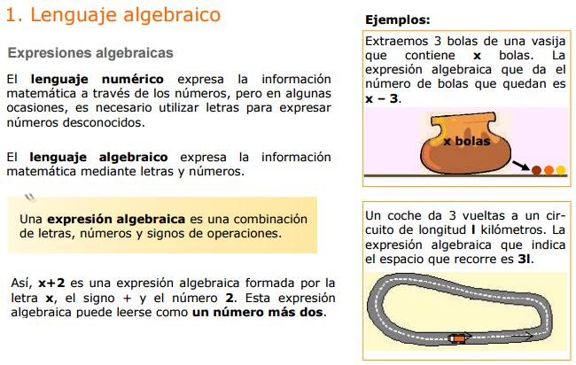 El Blog del Profe Alex: Lenguaje Algebraico Ejercicios Basicos
