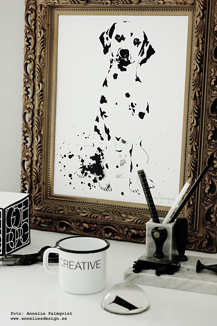 dalmatin, dalmatiner, tavla, tavlor, poster, psoters, konsttryck, print, prints, hund, hundar, svartvitt, svartvit, svartvita, svart och vitt, annelies design, webbutik, webbutiker, webshop, inredning, loppis, ram, ramar, mässing, memoblock göteborg, grafiskt, grafiska, grafisk, svartvita detaljer, marmor