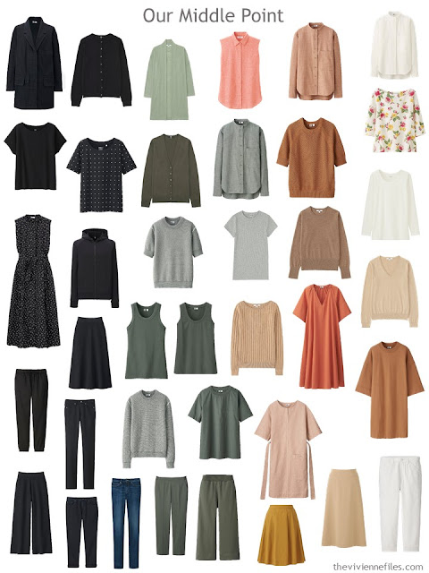 A wardrobe, edited to remove incompatible colors