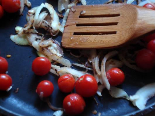 saute cherry tomatoes
