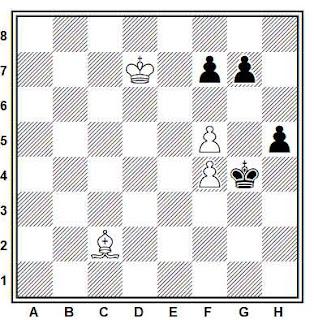 Estudio artístico de ajedrez compuesto por David Bronstein (1991)