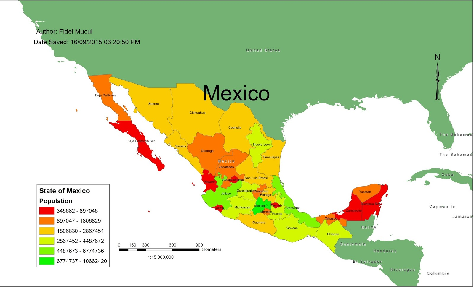 Fidel S Gis Explorations Map Of Mexico