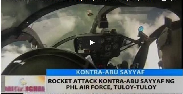 BREAKING NEWS: Rocket Attack Kontra-Abu Sayyaf ng PHL Air Force, Tuloy-tuloy